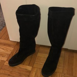Slouchy tall black Casadei boots - lightly worn!